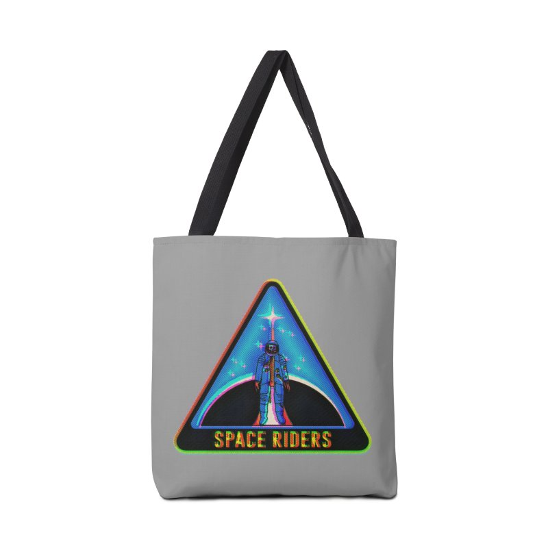 Space Riders - Glitch  Accessories Tote Bag Bag by Alexis Ziritt