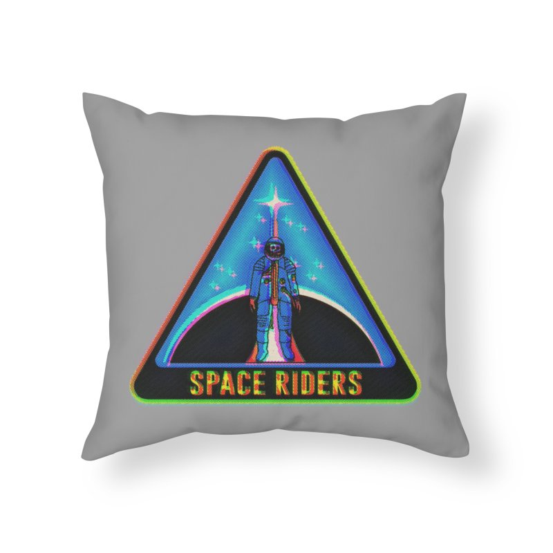 Space Riders - Glitch  Home Throw Pillow by Alexis Ziritt
