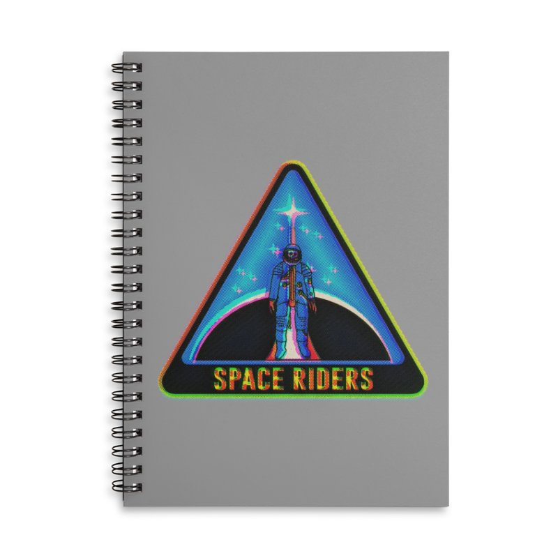 Space Riders - Glitch  Accessories Lined Spiral Notebook by Alexis Ziritt