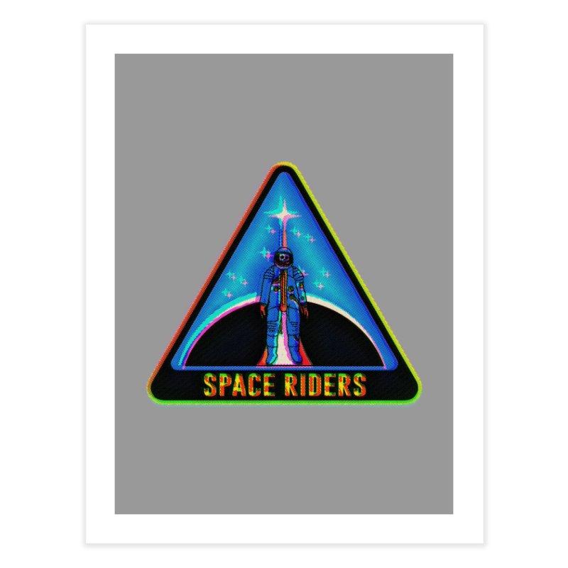 Space Riders - Glitch  Home Fine Art Print by Alexis Ziritt