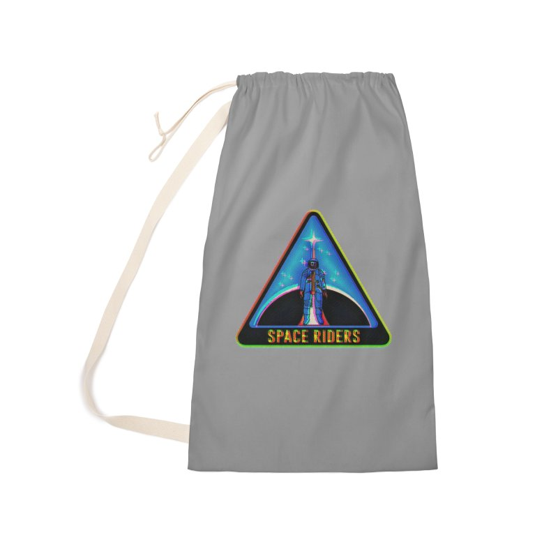 Space Riders - Glitch  Accessories Laundry Bag Bag by Alexis Ziritt