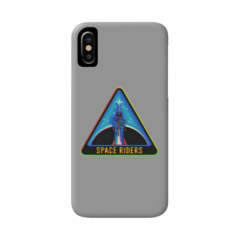 Space Riders - Glitch  Accessories Phone Case by aziritt's Artist Shop
