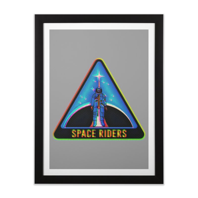 Space Riders - Glitch  Home Framed Fine Art Print by Alexis Ziritt
