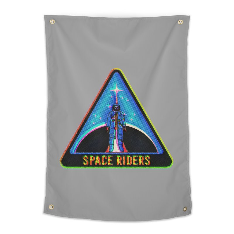 Space Riders - Glitch  Home Tapestry by Alexis Ziritt