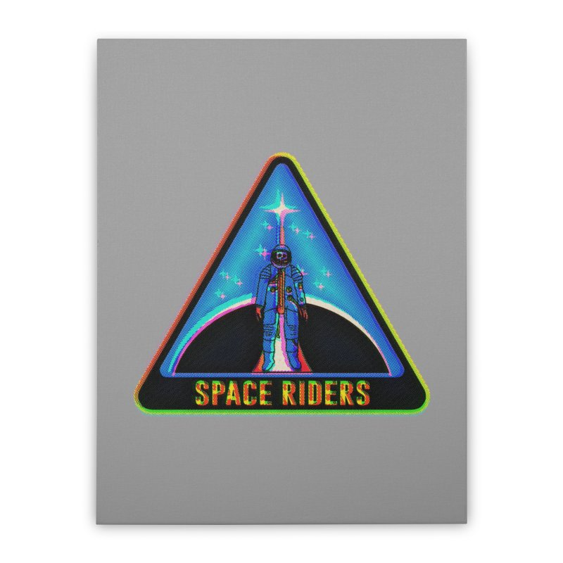 Space Riders - Glitch  Home Stretched Canvas by Alexis Ziritt