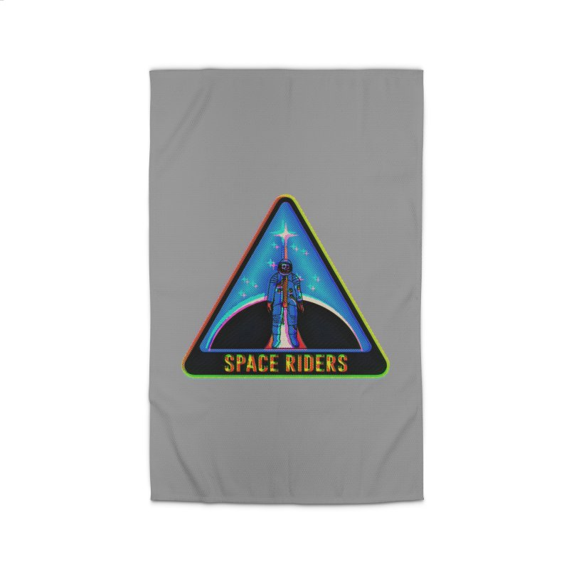 Space Riders - Glitch  Home Rug by Alexis Ziritt