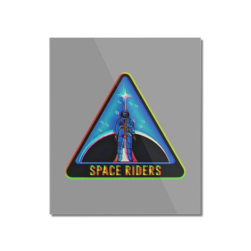 Space Riders - Glitch  Home Mounted Acrylic Print by aziritt's Artist Shop