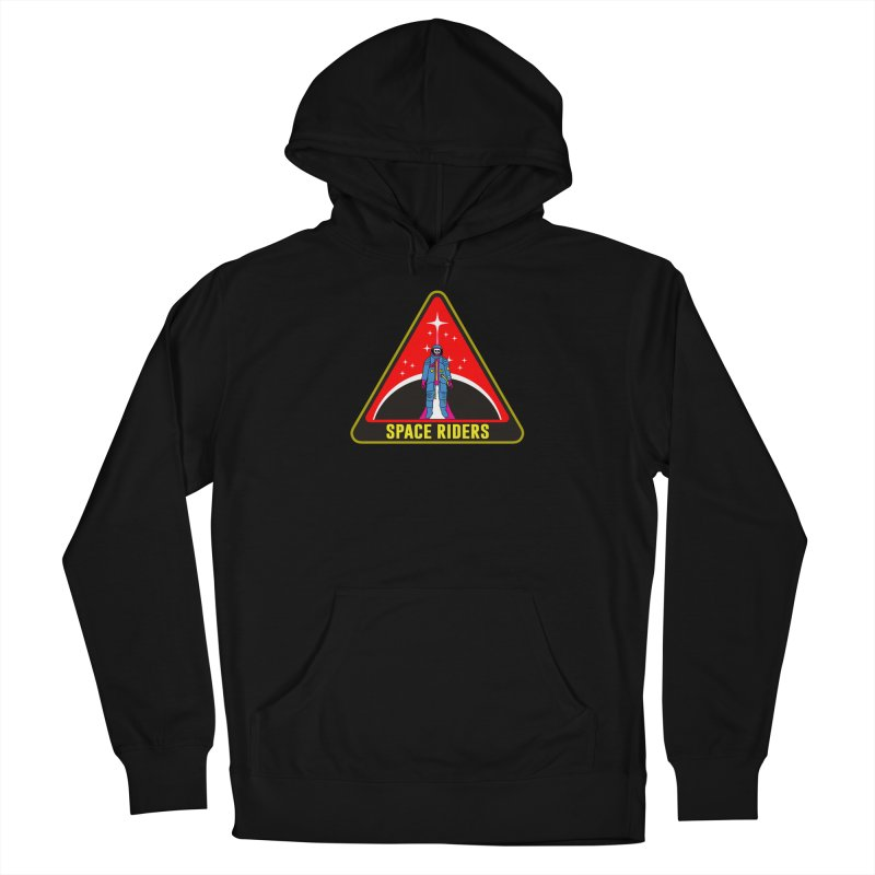 Space Riders - Patch  Men's French Terry Pullover Hoody by Alexis Ziritt