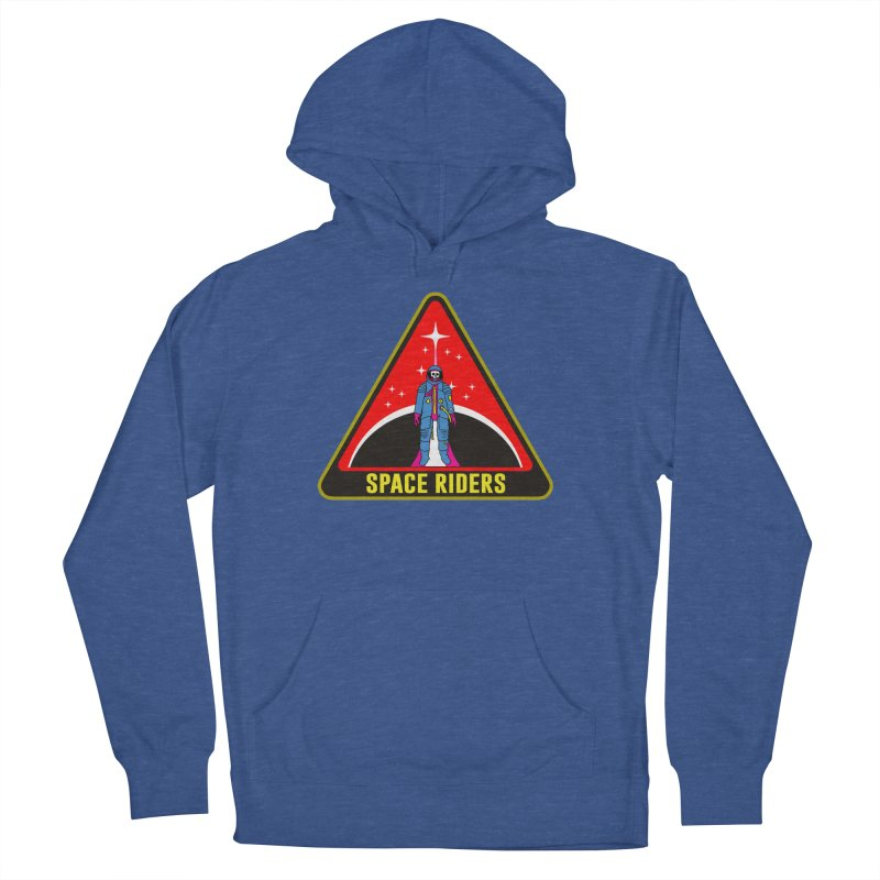 Space Riders - Patch  Women's French Terry Pullover Hoody by Alexis Ziritt