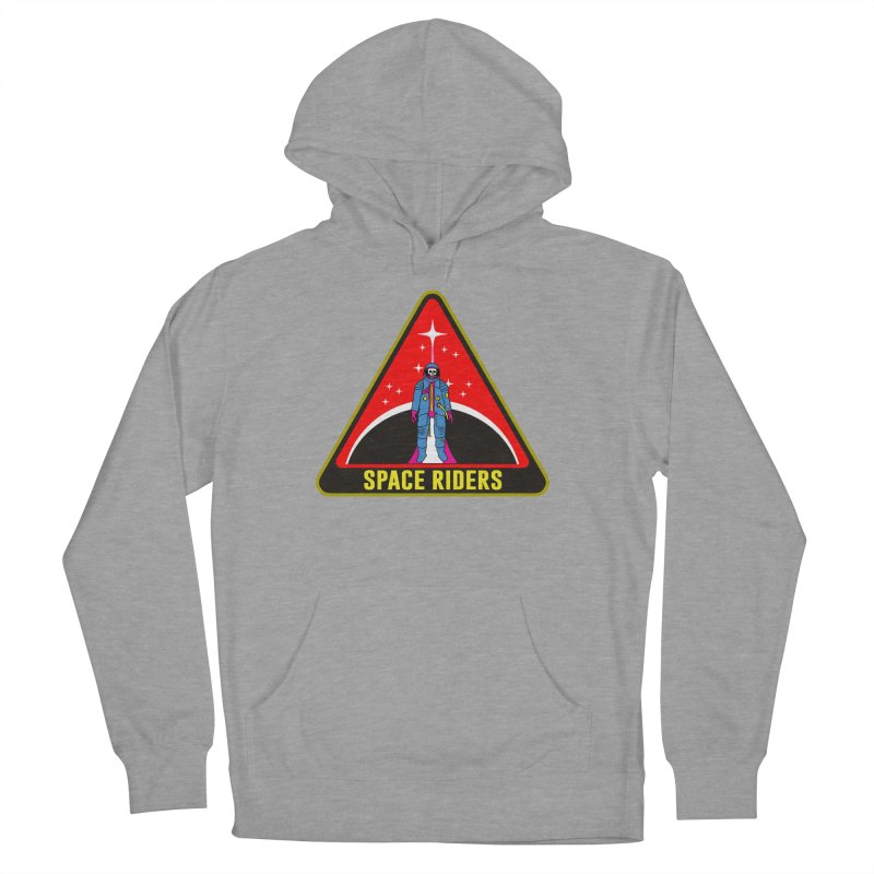 Space Riders - Patch  Women's French Terry Pullover Hoody by aziritt's Artist Shop