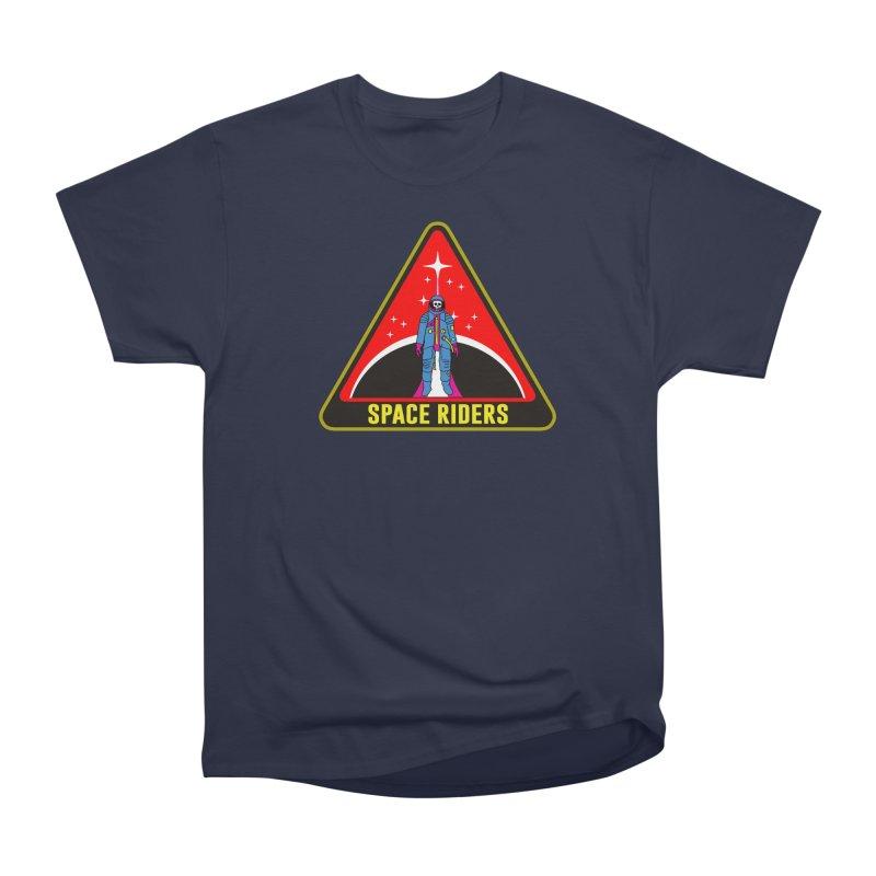 Space Riders - Patch  Women's Heavyweight Unisex T-Shirt by Alexis Ziritt