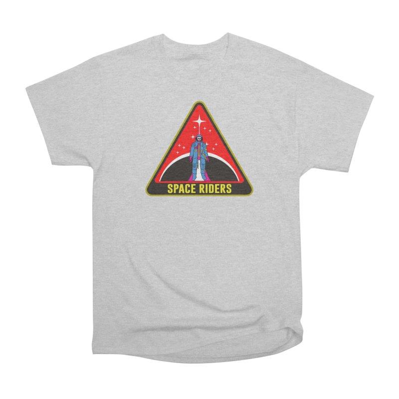 Space Riders - Patch  Women's Heavyweight Unisex T-Shirt by aziritt's Artist Shop