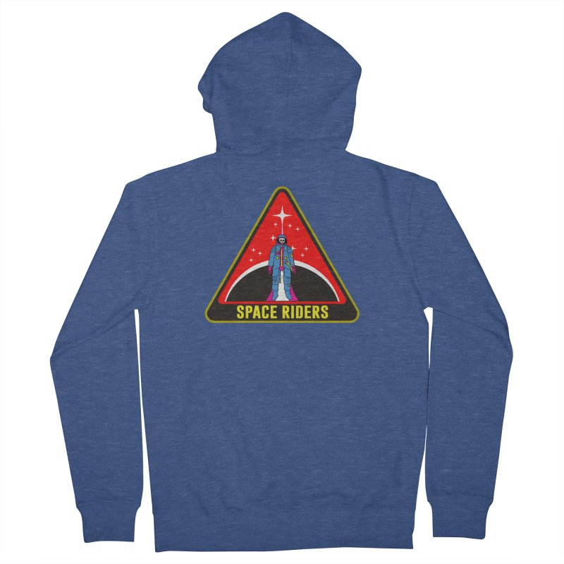 Space Riders - Patch  Women's French Terry Zip-Up Hoody by aziritt's Artist Shop