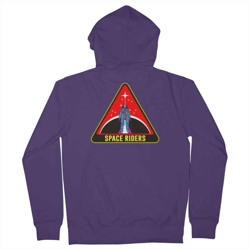 Space Riders - Patch  Women's French Terry Zip-Up Hoody by Alexis Ziritt