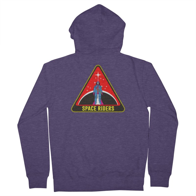 Space Riders - Patch  Men's French Terry Zip-Up Hoody by aziritt's Artist Shop