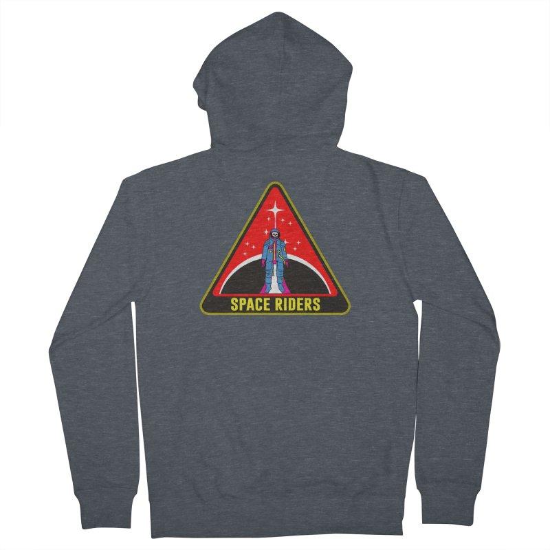 Space Riders - Patch  Men's Zip-Up Hoody by aziritt's Artist Shop