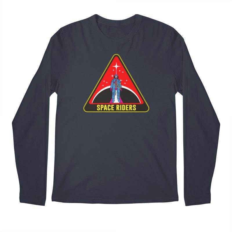 Space Riders - Patch  Men's Regular Longsleeve T-Shirt by Alexis Ziritt