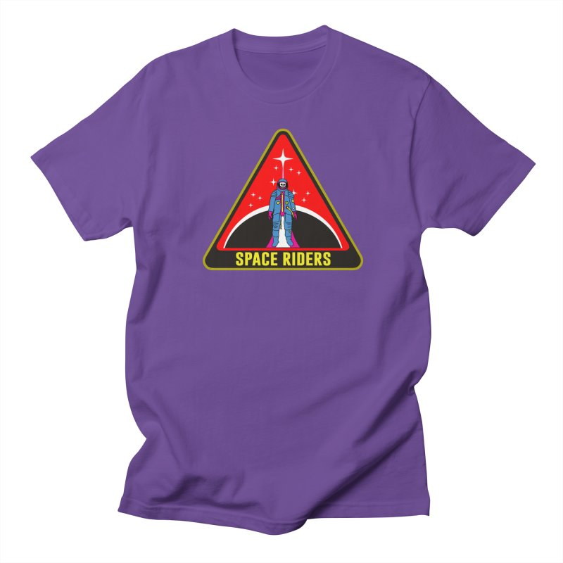 Space Riders - Patch  in Men's T-shirt Purple by aziritt's Artist Shop