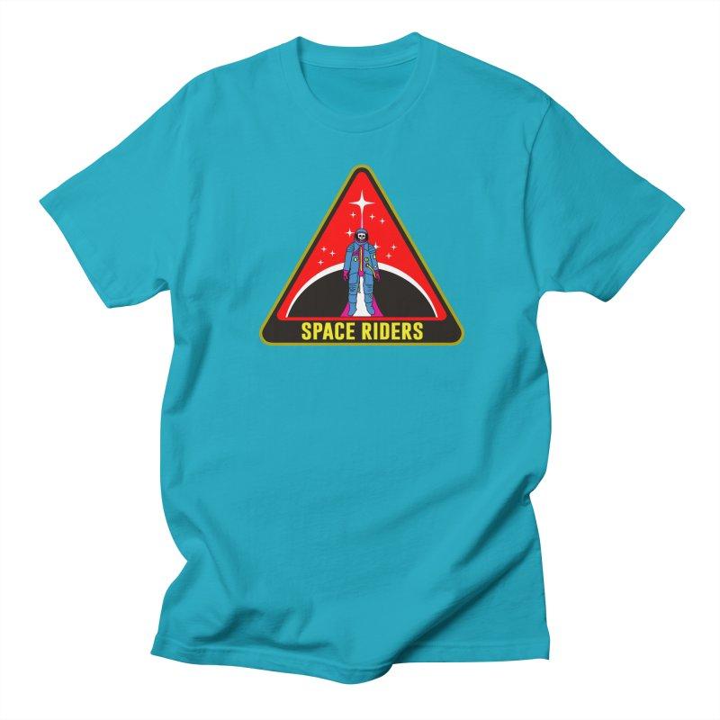 Space Riders - Patch  Men's Regular T-Shirt by Alexis Ziritt