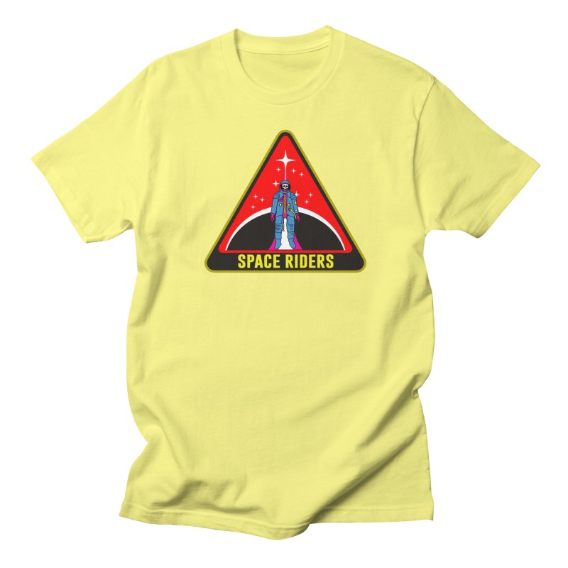 Space Riders - Patch  Men's Regular T-Shirt by Alexis Ziritt