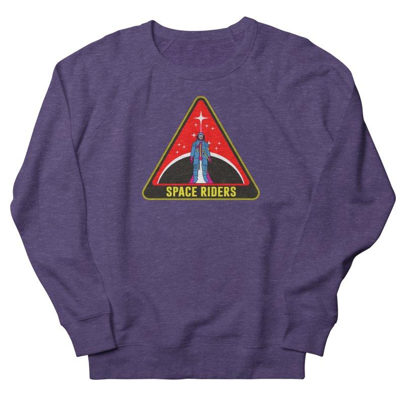 Space Riders - Patch  Men's French Terry Sweatshirt by aziritt's Artist Shop