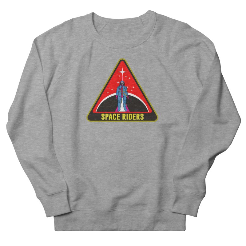 Space Riders - Patch  Men's French Terry Sweatshirt by aziritt's Artist Shop