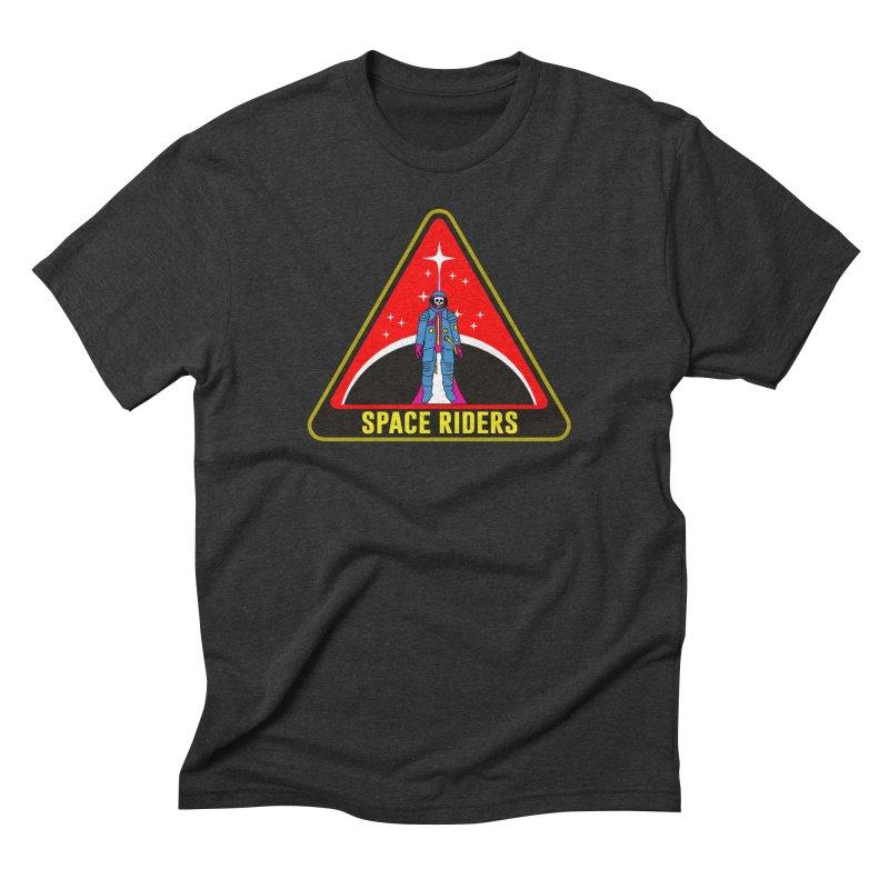 Space Riders - Patch  Men's Triblend T-Shirt by aziritt's Artist Shop