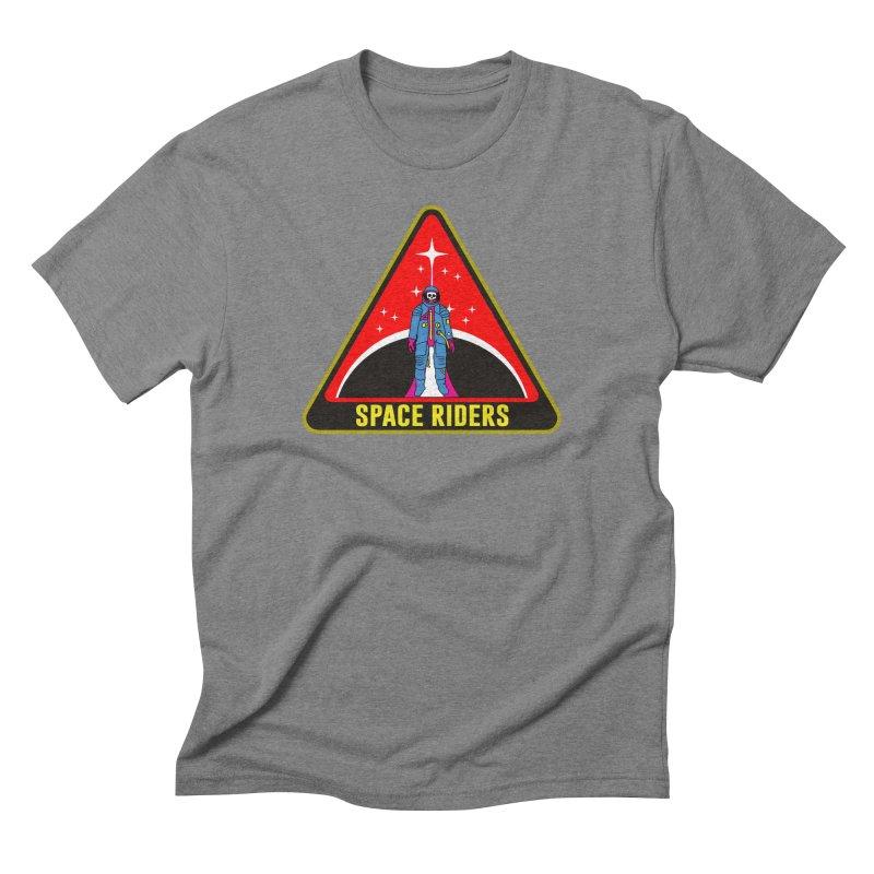 Space Riders - Patch  Men's Triblend T-Shirt by Alexis Ziritt