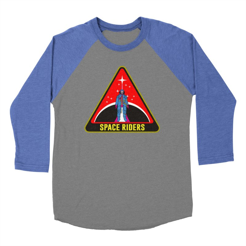 Space Riders - Patch  Men's Baseball Triblend Longsleeve T-Shirt by aziritt's Artist Shop