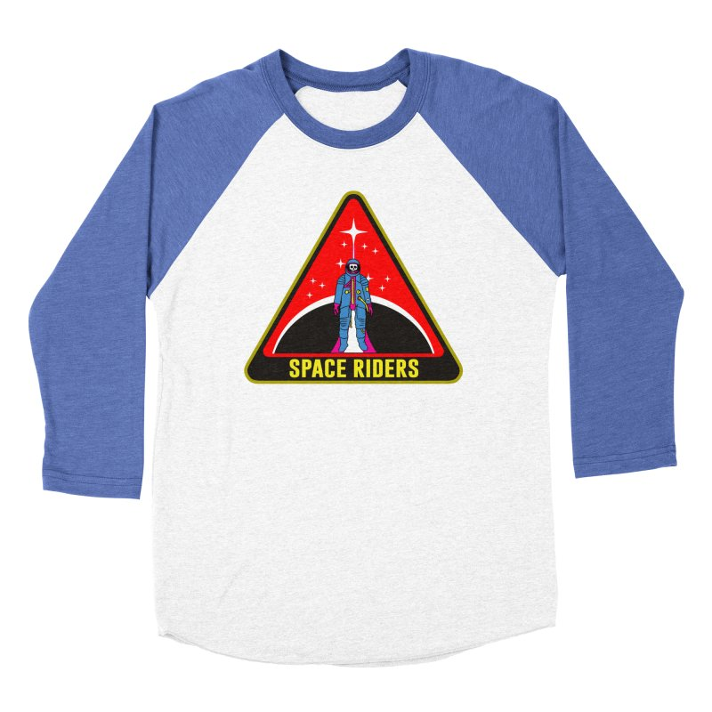 Space Riders - Patch  Men's Baseball Triblend T-Shirt by aziritt's Artist Shop