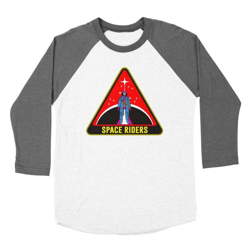 Space Riders - Patch  Men's Baseball Triblend Longsleeve T-Shirt by aziritt's Artist Shop