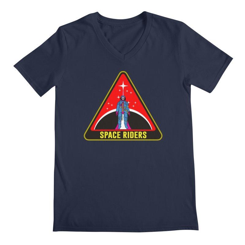Space Riders - Patch  Men's V-Neck by aziritt's Artist Shop