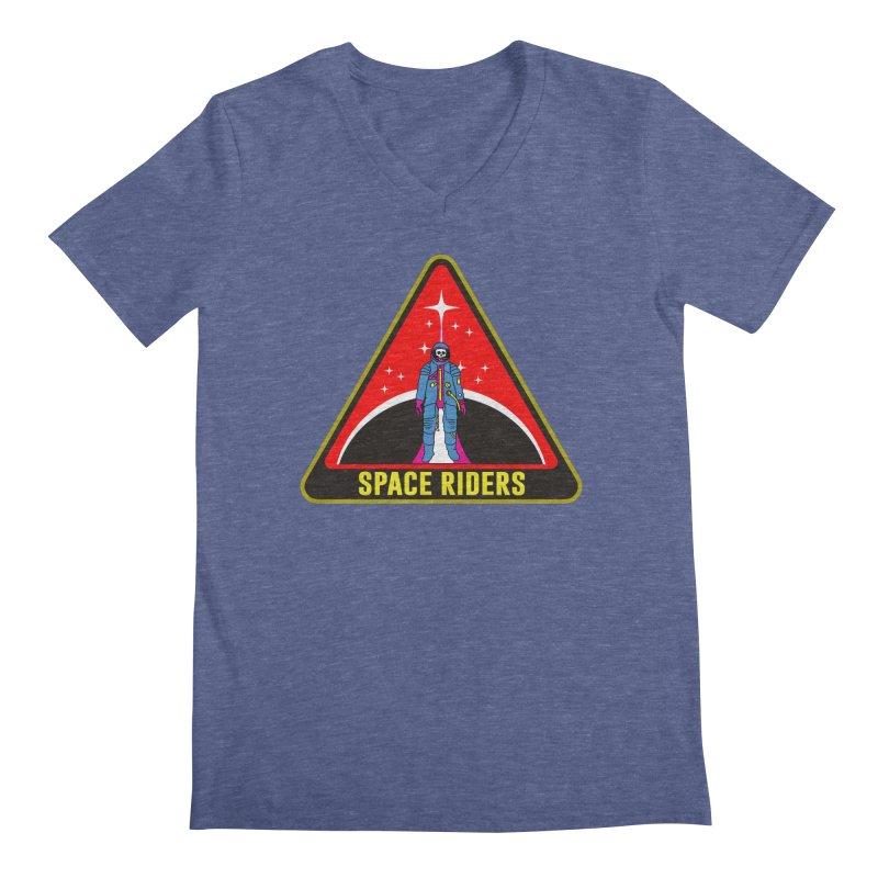 Space Riders - Patch  Men's Regular V-Neck by Alexis Ziritt