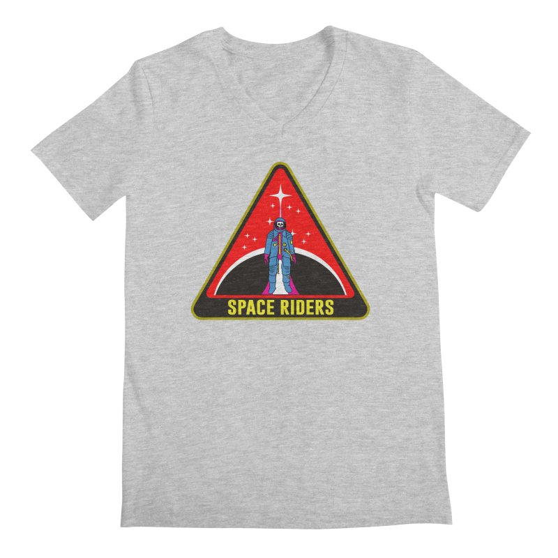 Space Riders - Patch  Men's Regular V-Neck by aziritt's Artist Shop