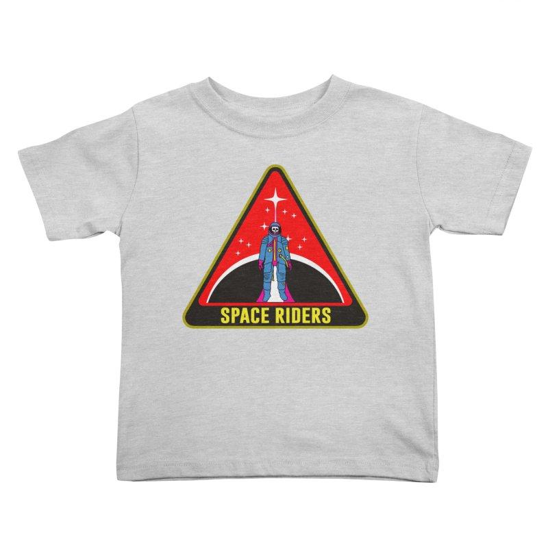 Space Riders - Patch  Kids Toddler T-Shirt by aziritt's Artist Shop