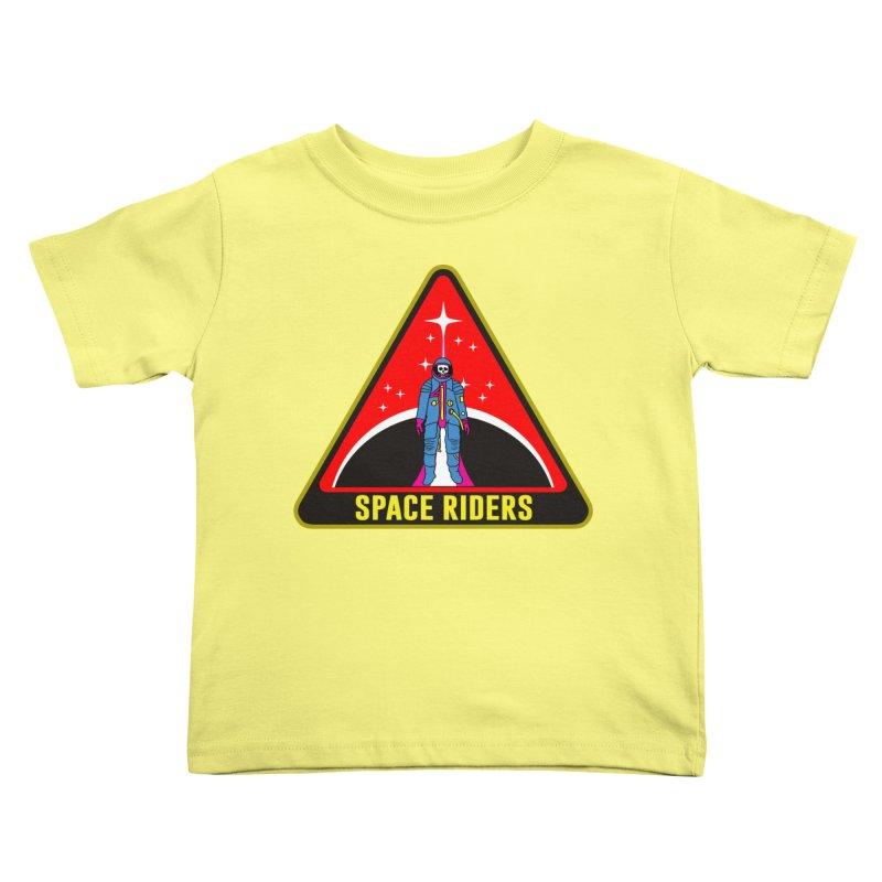 Space Riders - Patch  Kids Toddler T-Shirt by Alexis Ziritt