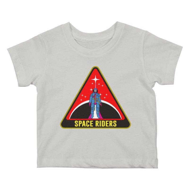 Space Riders - Patch  Kids Baby T-Shirt by aziritt's Artist Shop