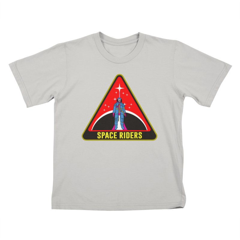 Space Riders - Patch  Kids T-Shirt by aziritt's Artist Shop