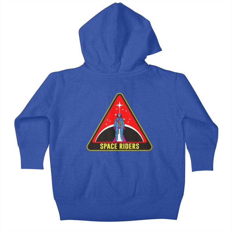 Space Riders - Patch  Kids Baby Zip-Up Hoody by Alexis Ziritt