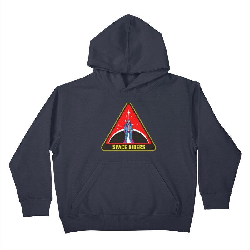 Space Riders - Patch  Kids Pullover Hoody by aziritt's Artist Shop
