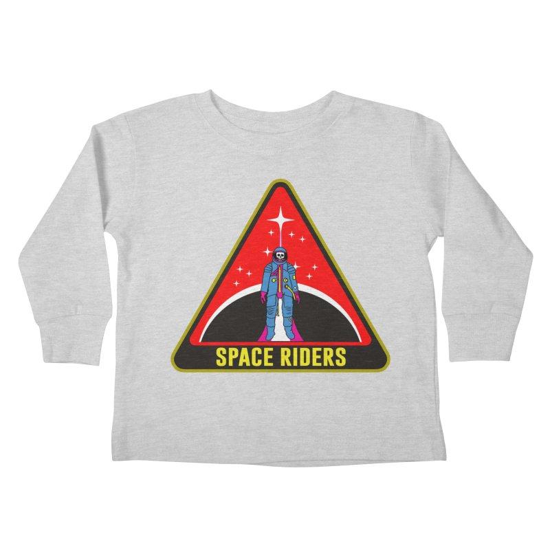 Space Riders - Patch  Kids Toddler Longsleeve T-Shirt by Alexis Ziritt
