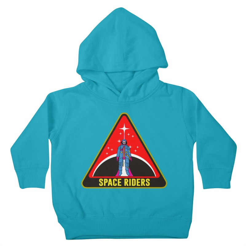 Space Riders - Patch  Kids Toddler Pullover Hoody by Alexis Ziritt