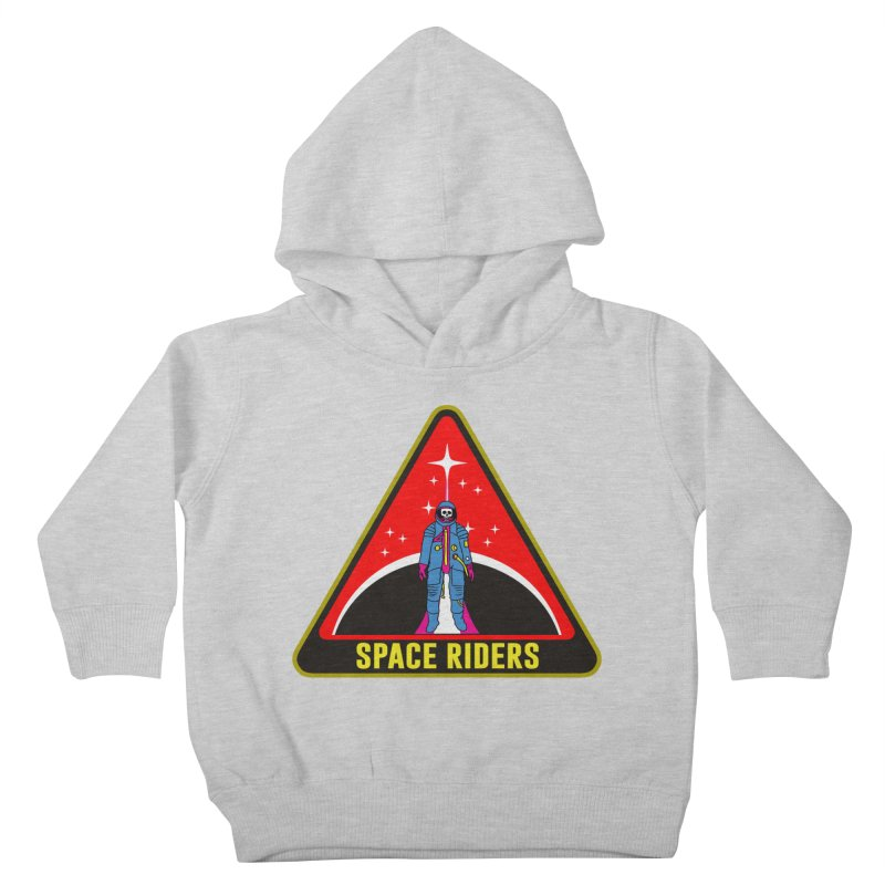Space Riders - Patch  Kids Toddler Pullover Hoody by aziritt's Artist Shop