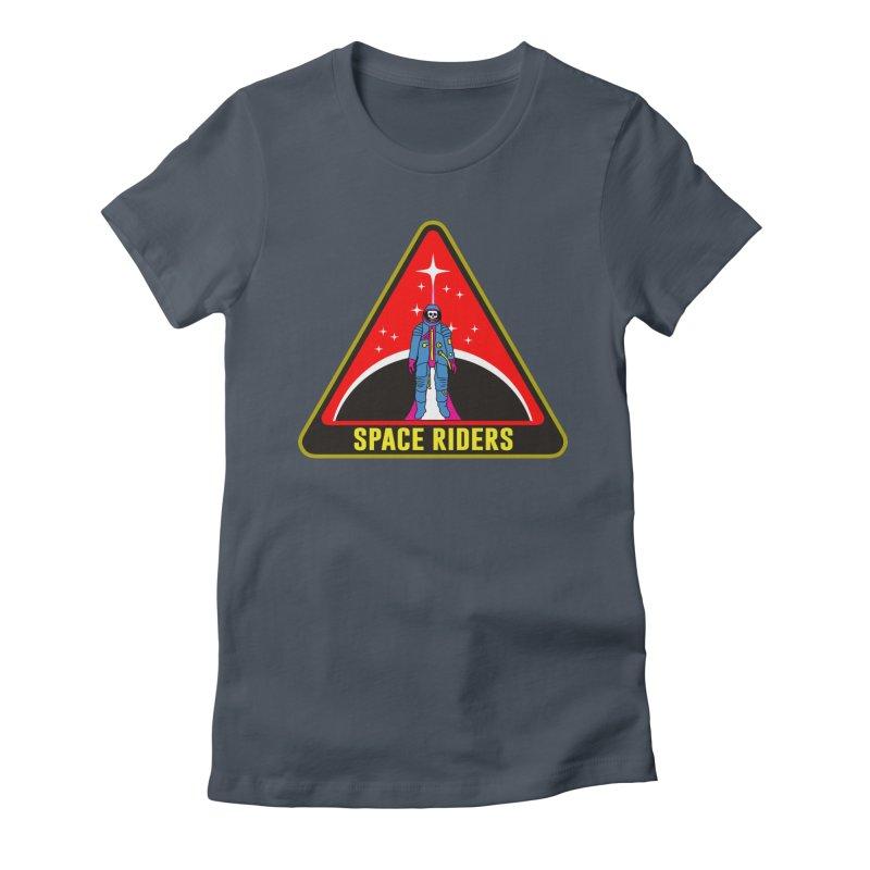 Space Riders - Patch  Women's T-Shirt by Alexis Ziritt