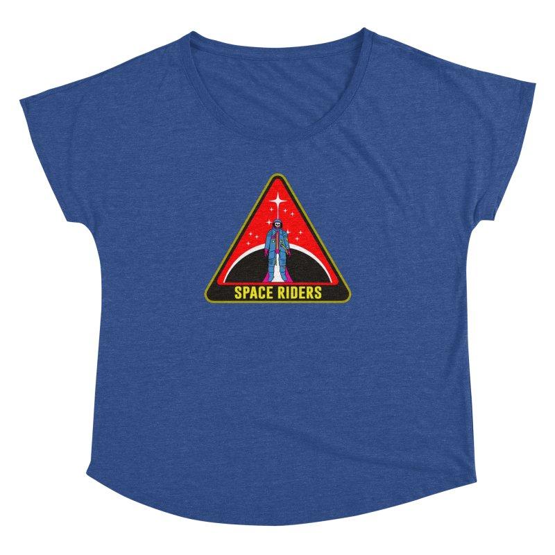 Space Riders - Patch  Women's Dolman Scoop Neck by Alexis Ziritt