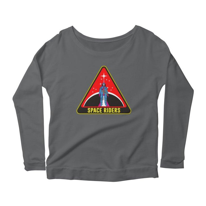 Space Riders - Patch  Women's Longsleeve Scoopneck  by aziritt's Artist Shop