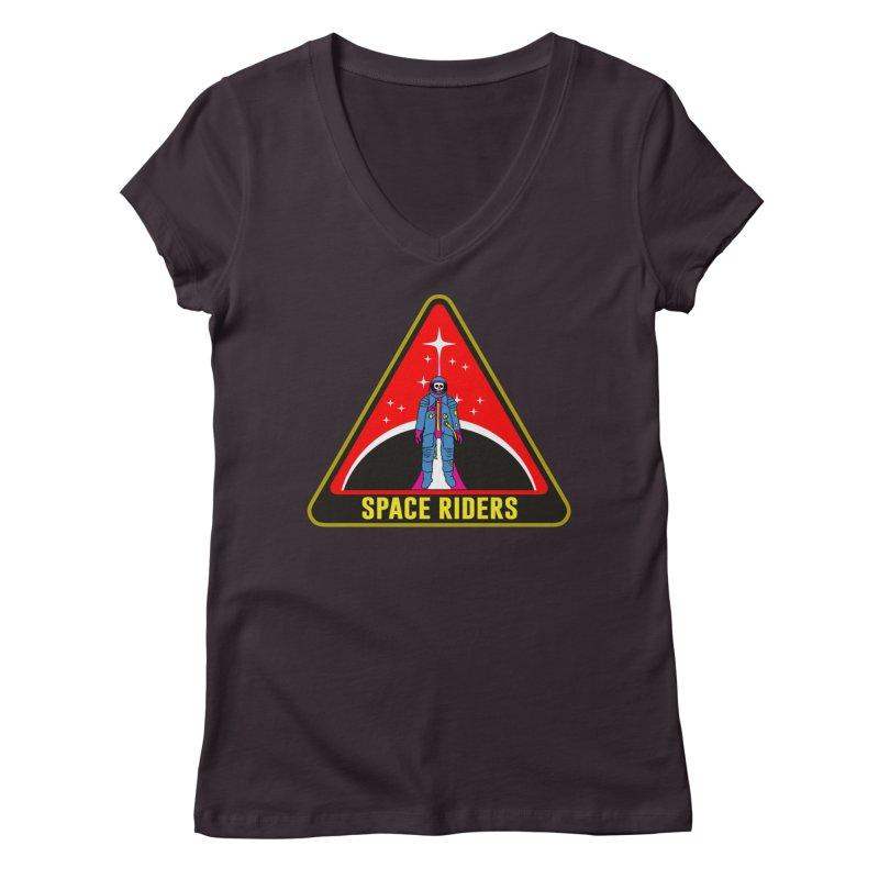 Space Riders - Patch  Women's Regular V-Neck by aziritt's Artist Shop