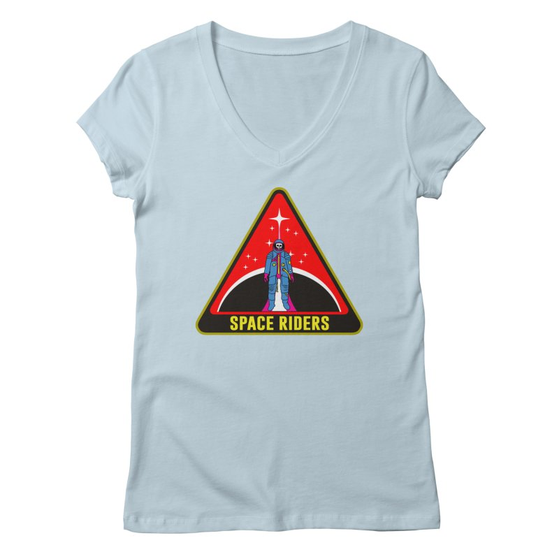 Space Riders - Patch  Women's Regular V-Neck by Alexis Ziritt
