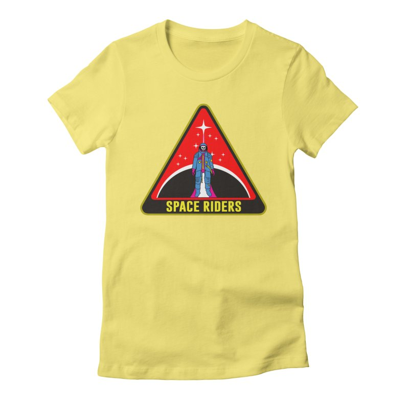 Space Riders - Patch  Women's Fitted T-Shirt by Alexis Ziritt