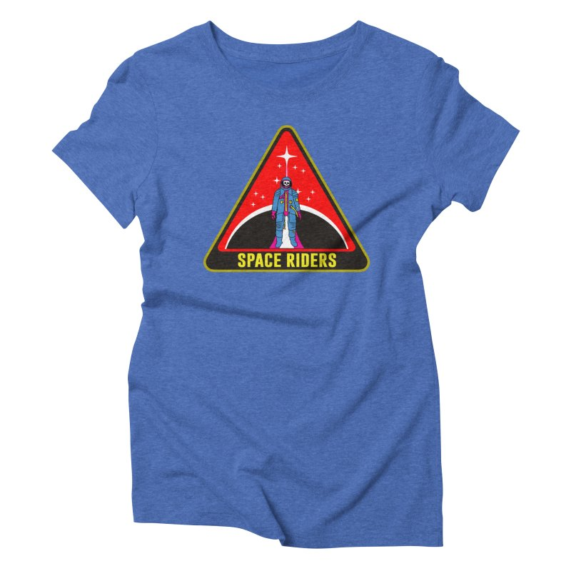 Space Riders - Patch  Women's Triblend T-shirt by aziritt's Artist Shop